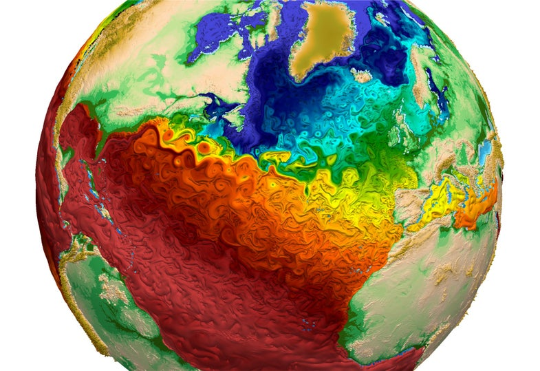 sea temp map