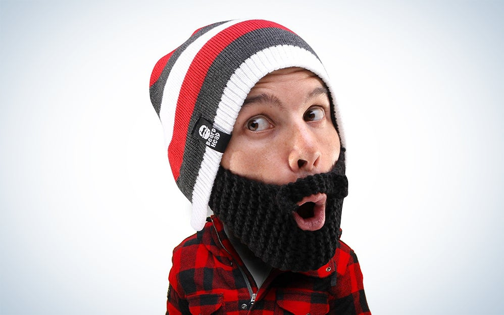 Man wearing beard beanie