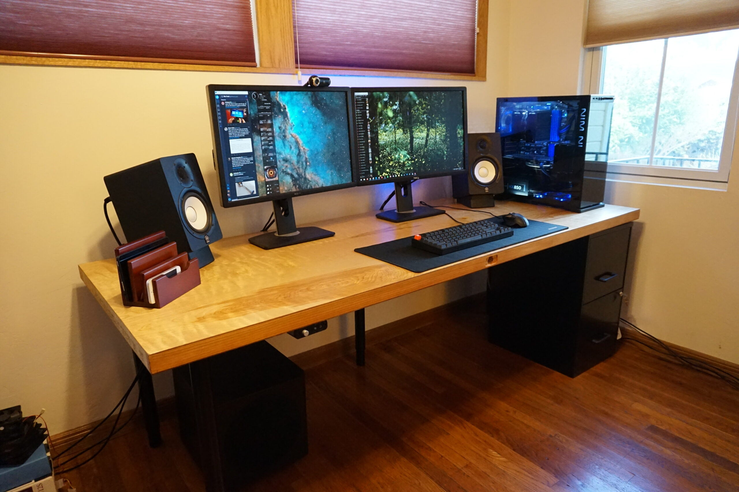 Save Major Money By Building A Custom Computer Desk With Storage And Biometrics