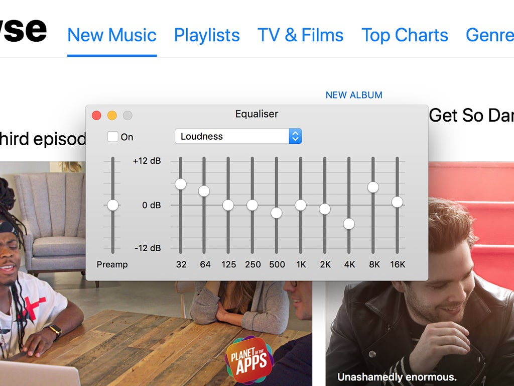 Apple Music equalizer