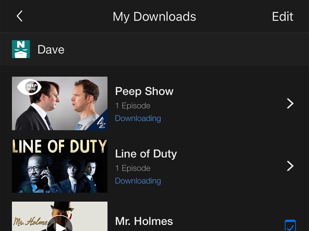 a screenshot of Netflix downloads
