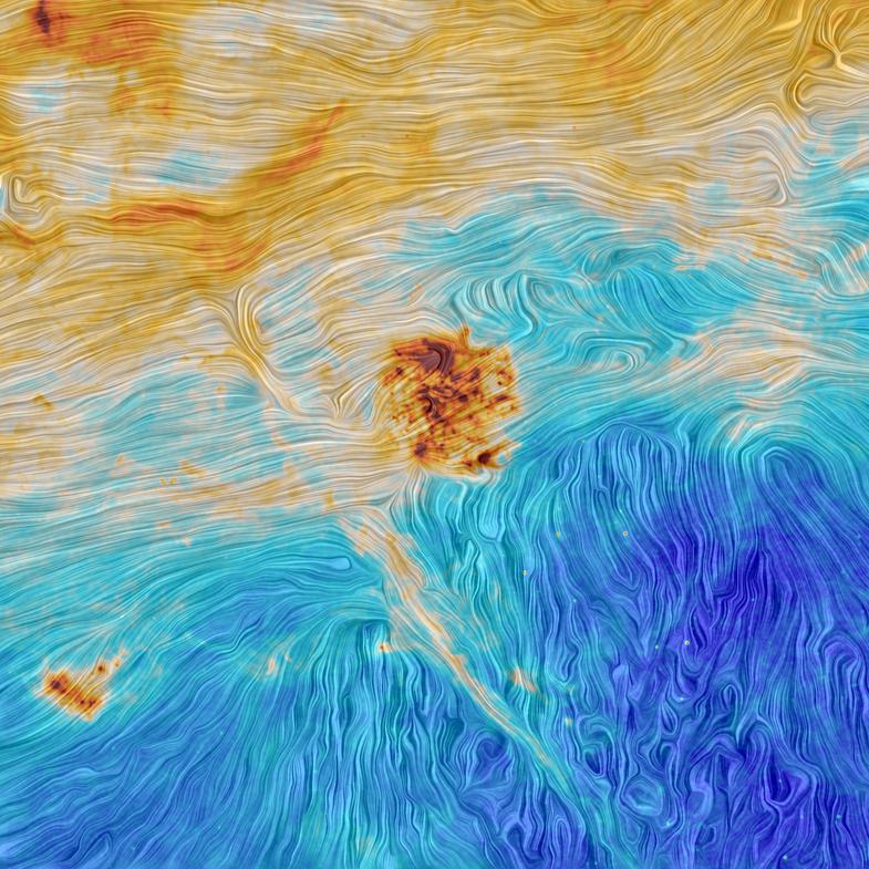 Magellanic clouds and interstellar filament