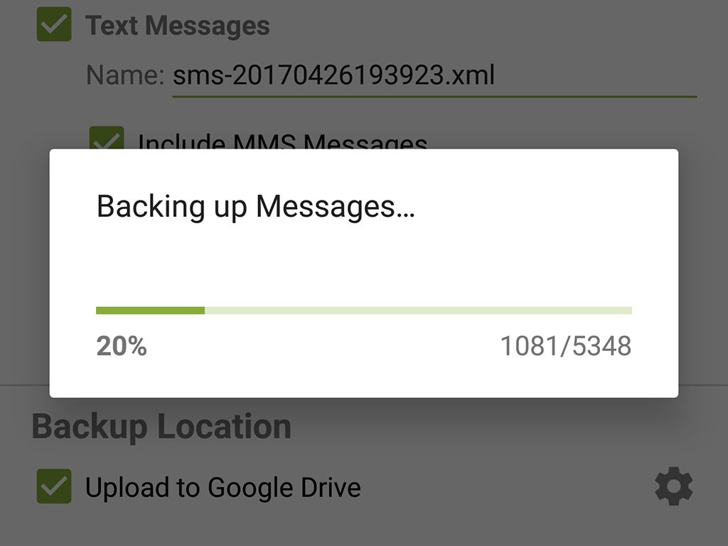 SMS Backup & Restore, a tool for saving text messages on Android.