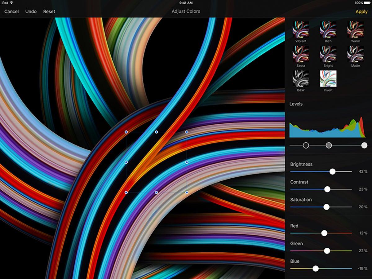 The Pixelmator iPad Pro app.