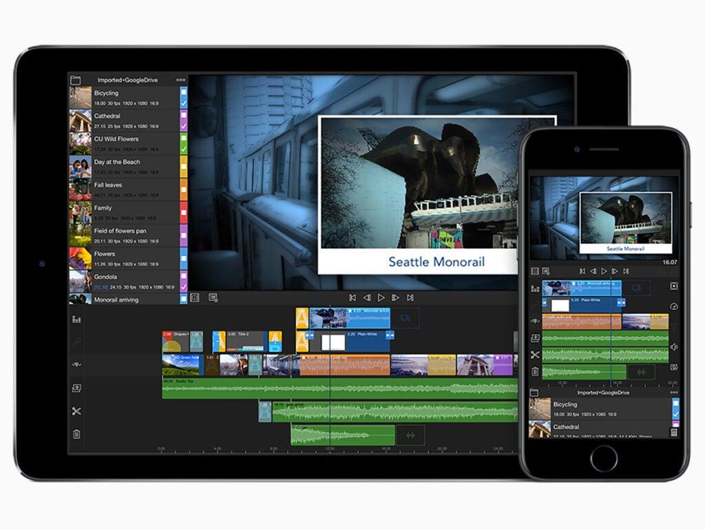 LumaFusion iPad Pro app.