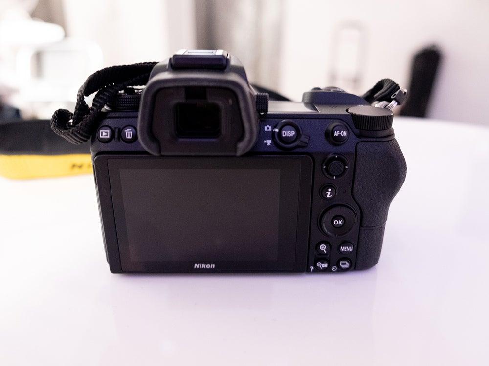 Nikon Z7 camera screen