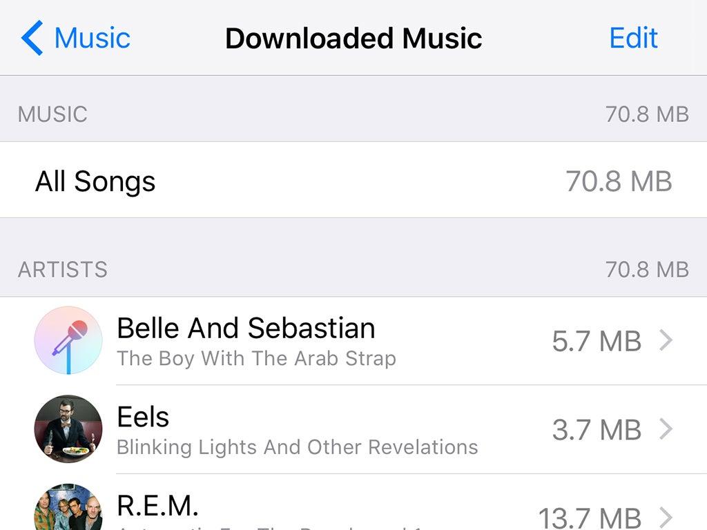 Apple Music storage