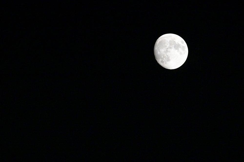 Nikon Z7 camera moon sample