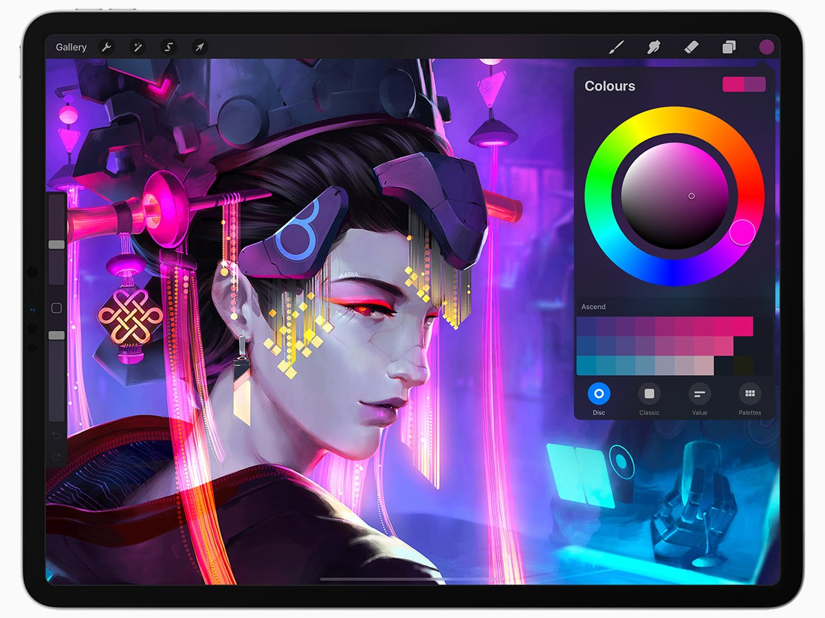 The Procreate app for digital art, one of the best apps for iPad Pro users with an artistic streak.