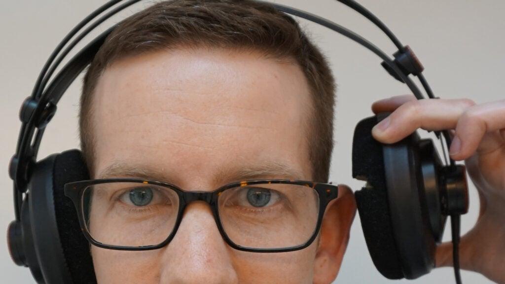 headphones over glasses
