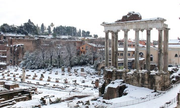 Cyclones in the Pacific made it snow in Rome, and soon that weather will hit the U.S.