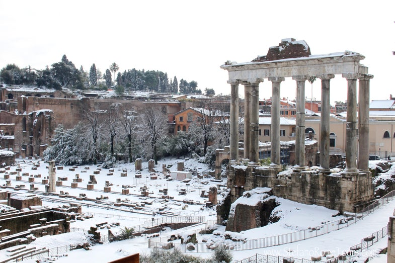 snow roman forum