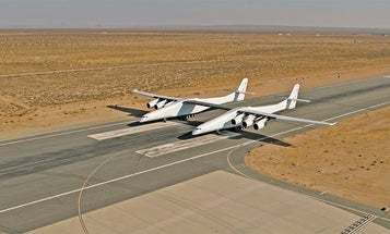 The world's largest aircraft is lumbering toward its first flight