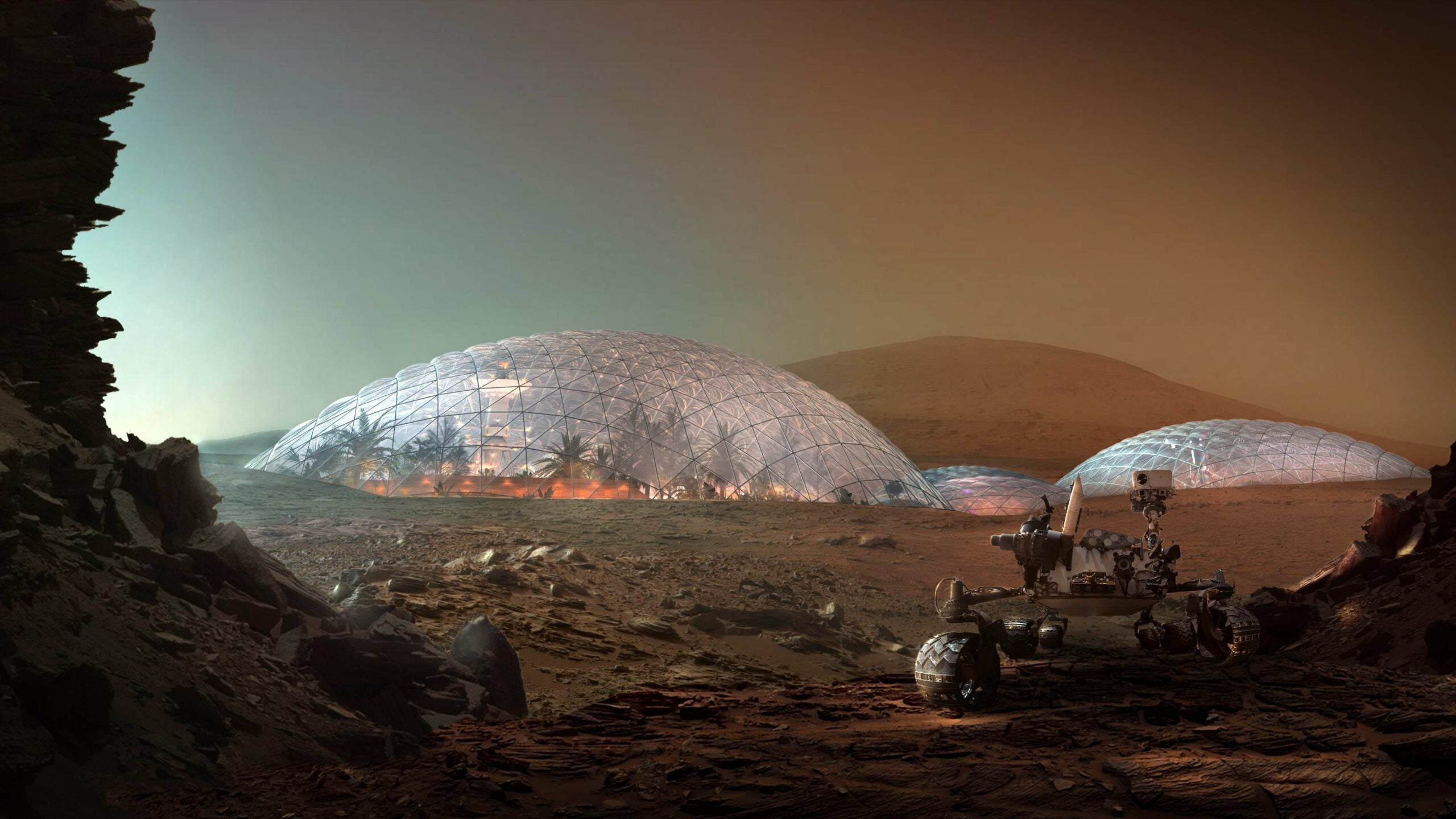 rendering of a martian city