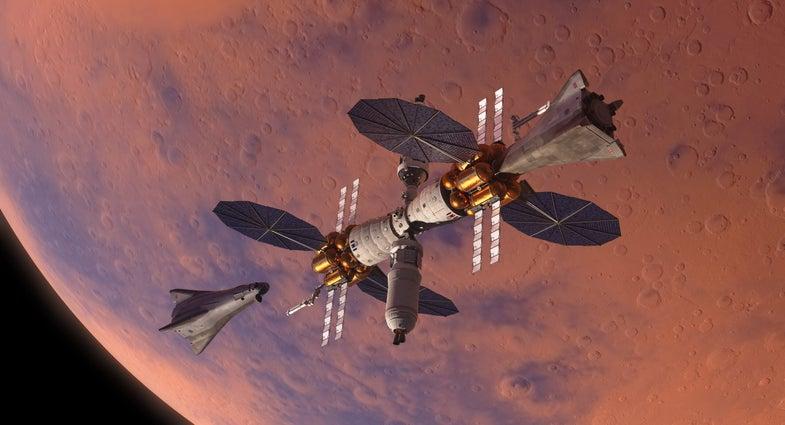 Mars orbiter and landers