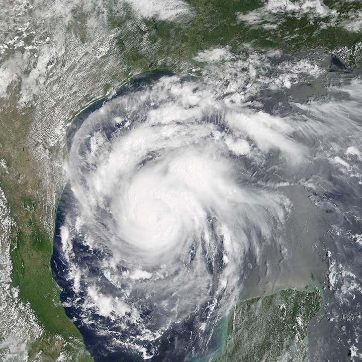 satellite image of hurricane harvey