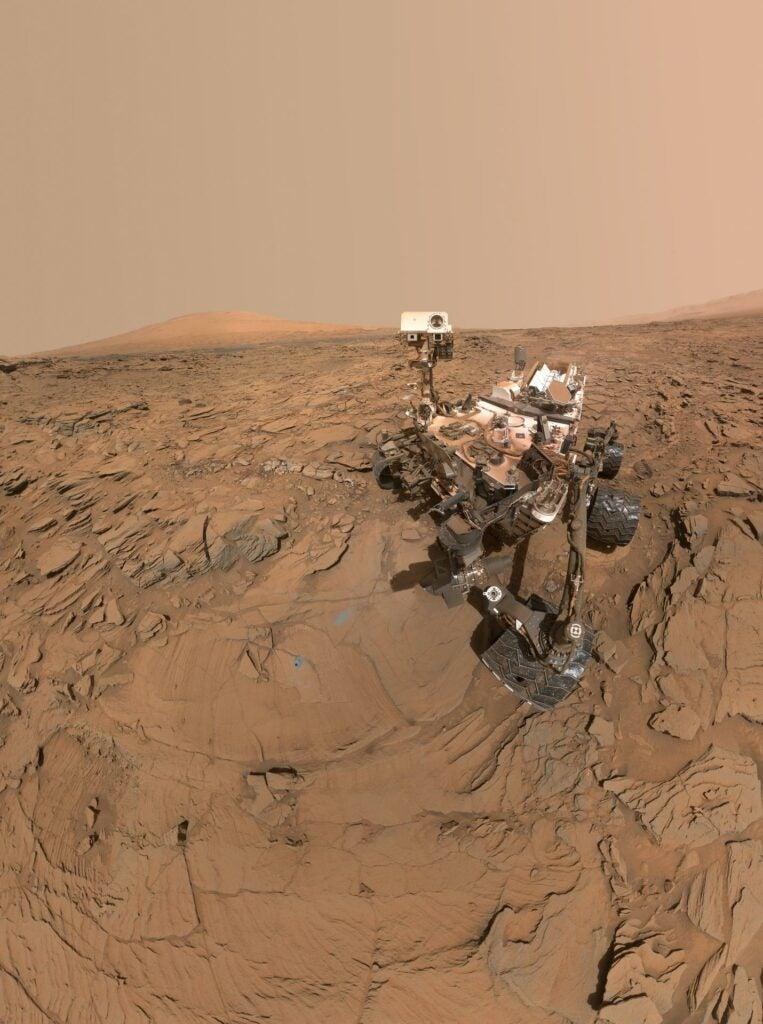 Curiosity self-portrait on Mars.