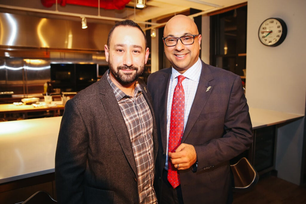 Joe Brown (left) and Ali Velshi at the Saveur headquarters.