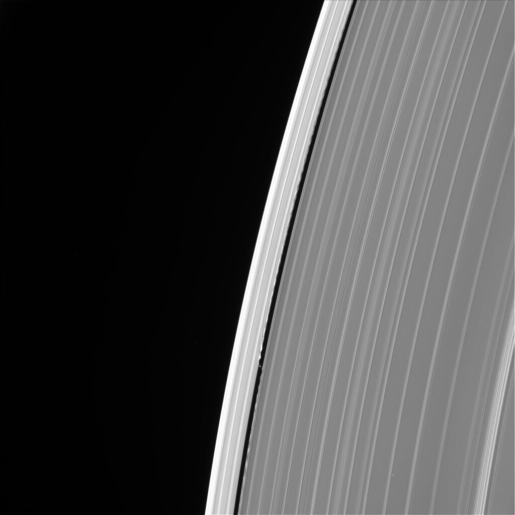 Daphnis making waves.