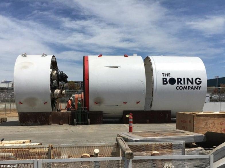 Godot, a tunnel-boring machine