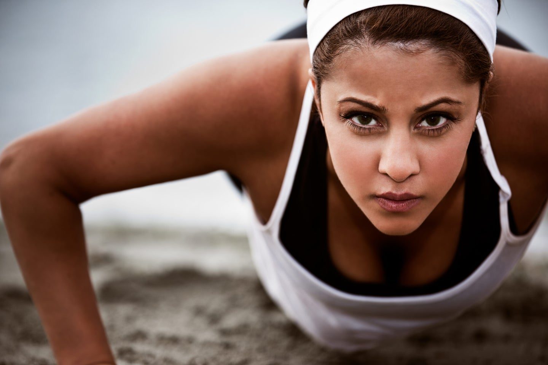 woman exercise depression mood