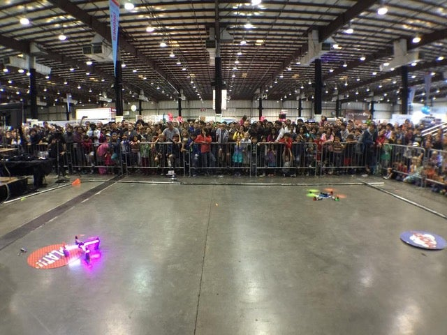 Drones in a dueling arena