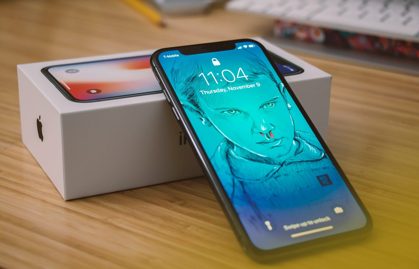 iphone X with box