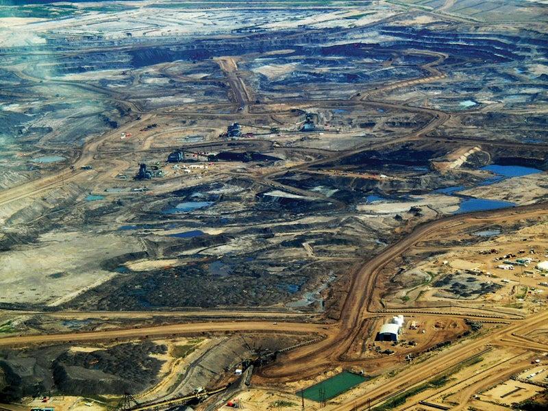 Canada tar sands Alberta bird's eye view