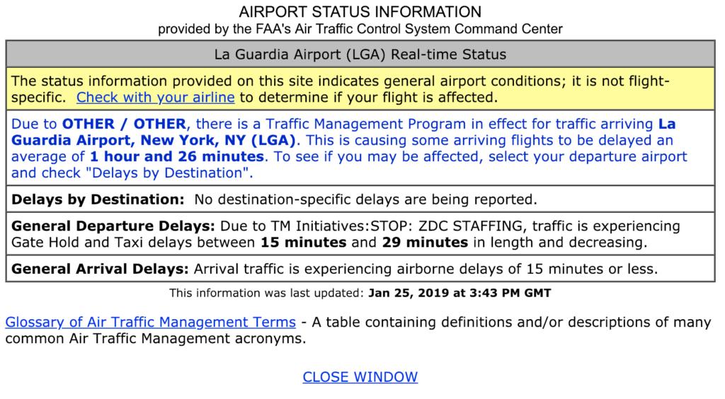 FAA flight delay plan