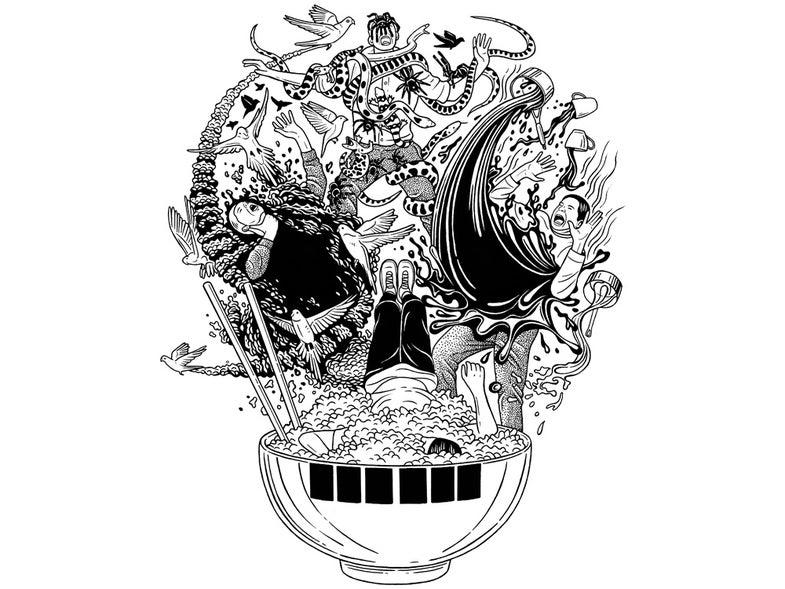skull death illustration