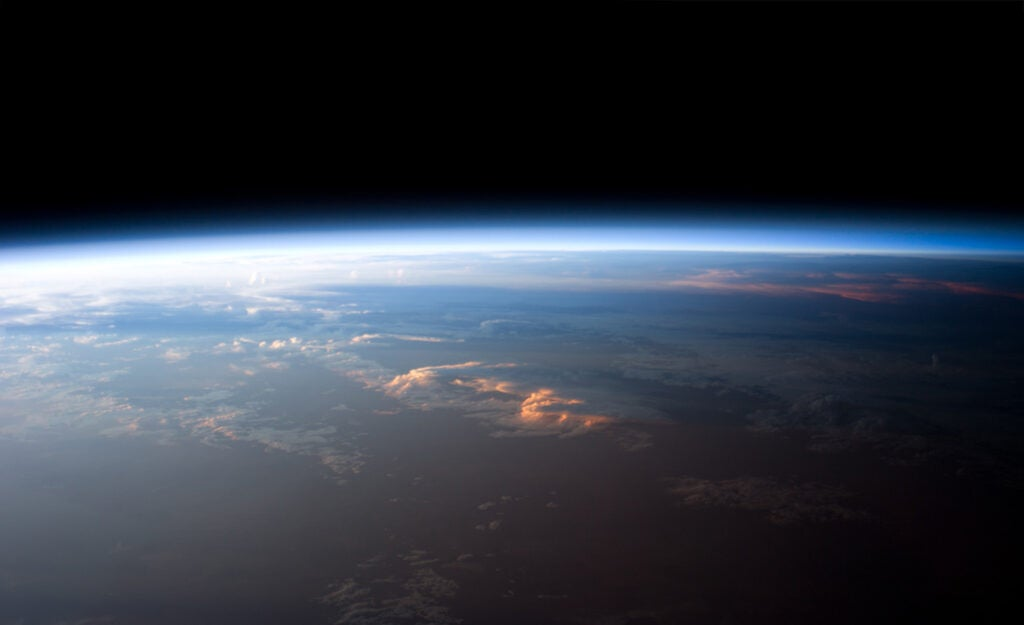 a picture of the earth's atmosphere