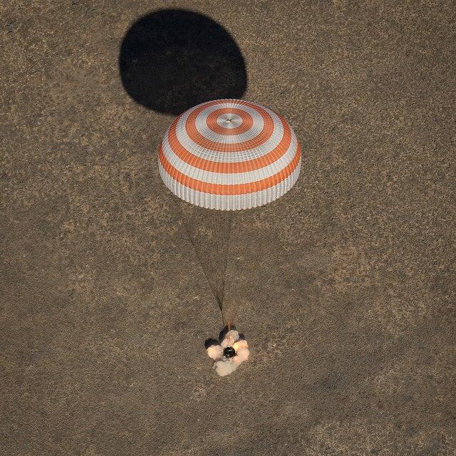 Soyuz 50 MS 2 module touches down in Kazakstan.