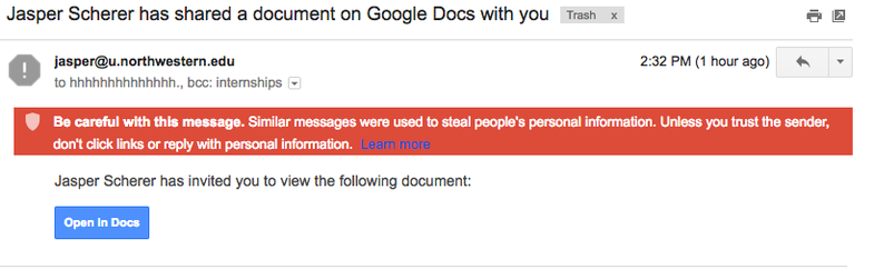 A massive phishing scheme disguised as Google Docs just hijacked Gmail