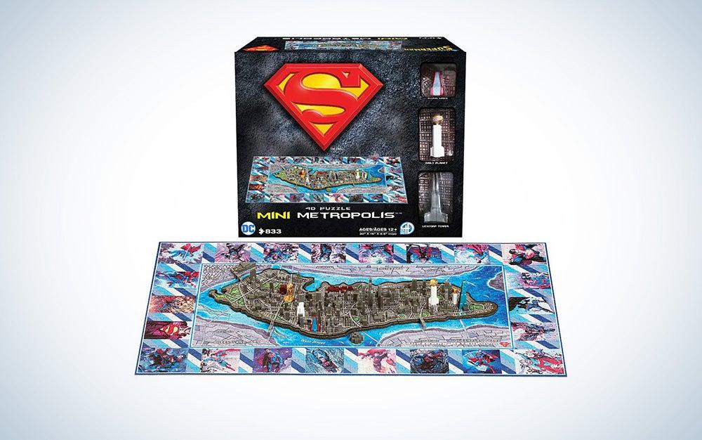 Superman Metropolis 4D Puzzle Cityscape