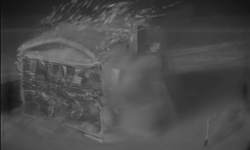 Watch a 1953 nuclear blast test disintegrate a house in high resolution
