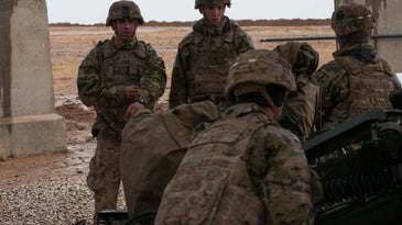 Army Artillery Crew With Task Force Strike