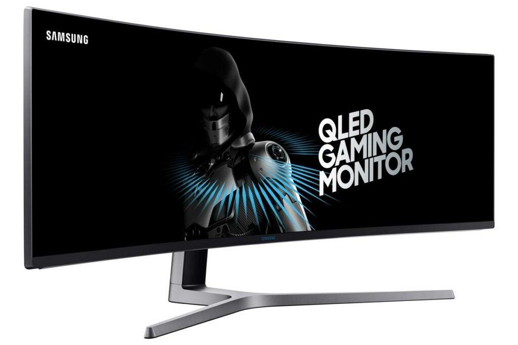 Samsung super-wide gaming monitor