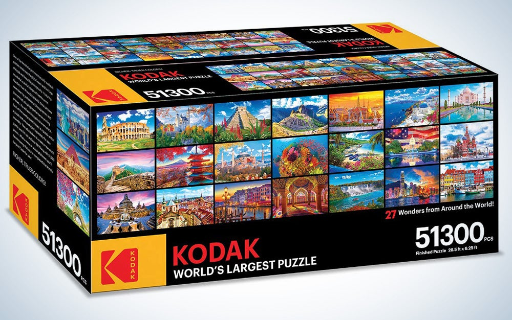 The worlds largest puzzle 51,300 pieces Kodak