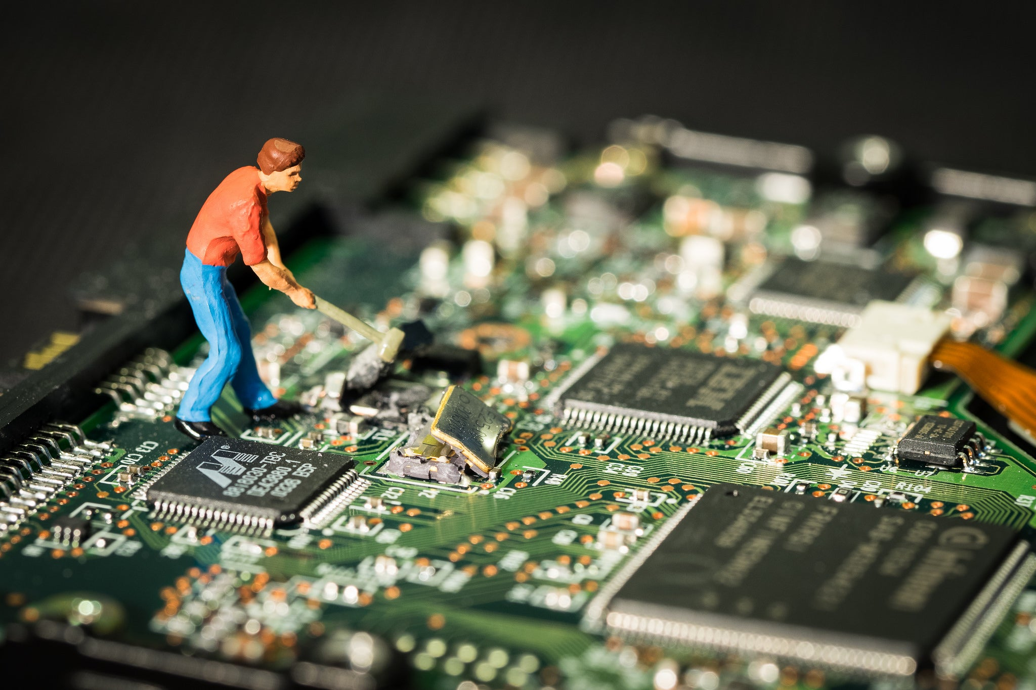A Hacker Infiltrating A Computer