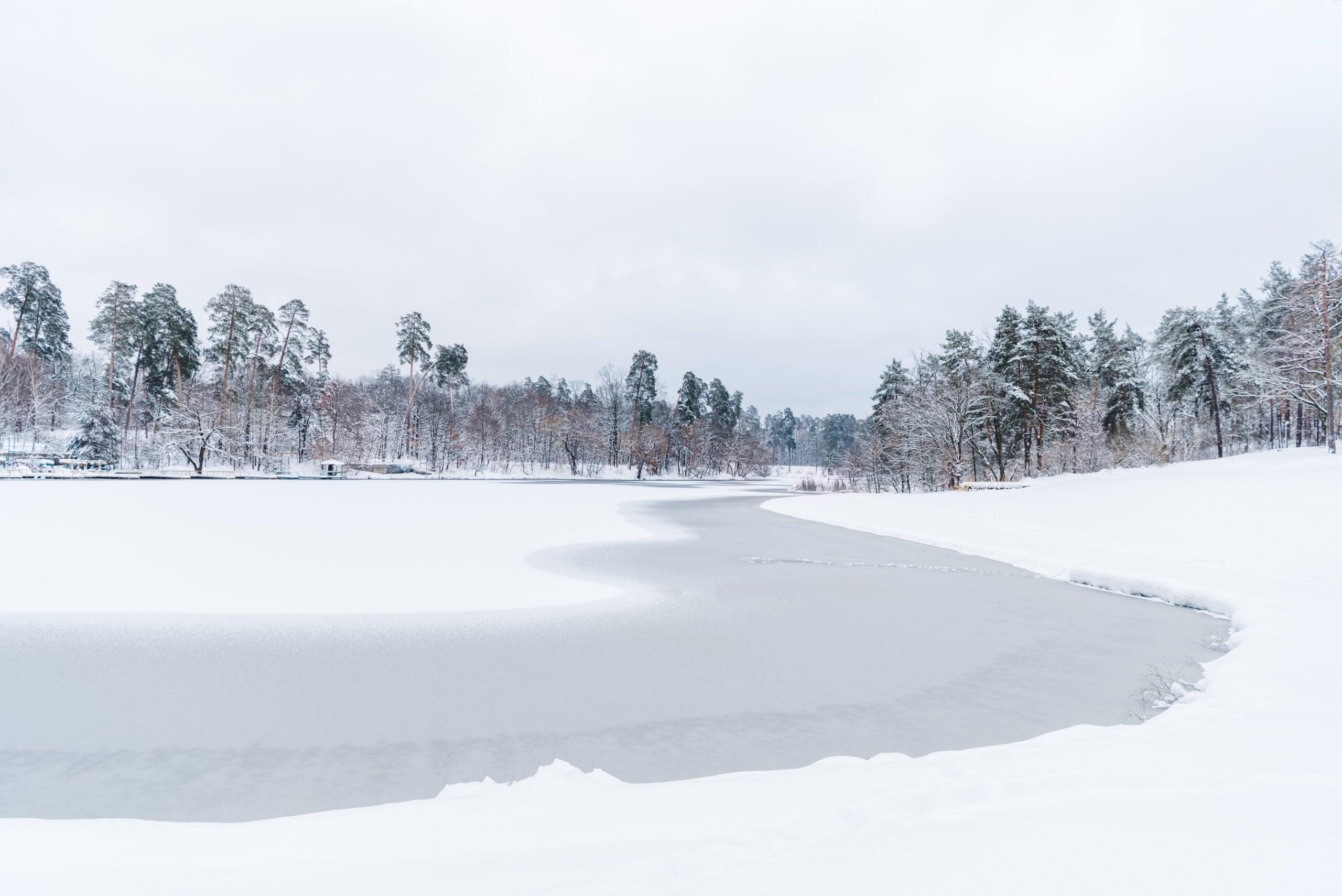 winter landscape frozen cold