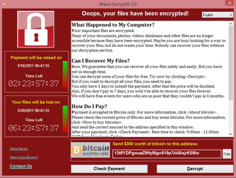 WannaCry Screenshot