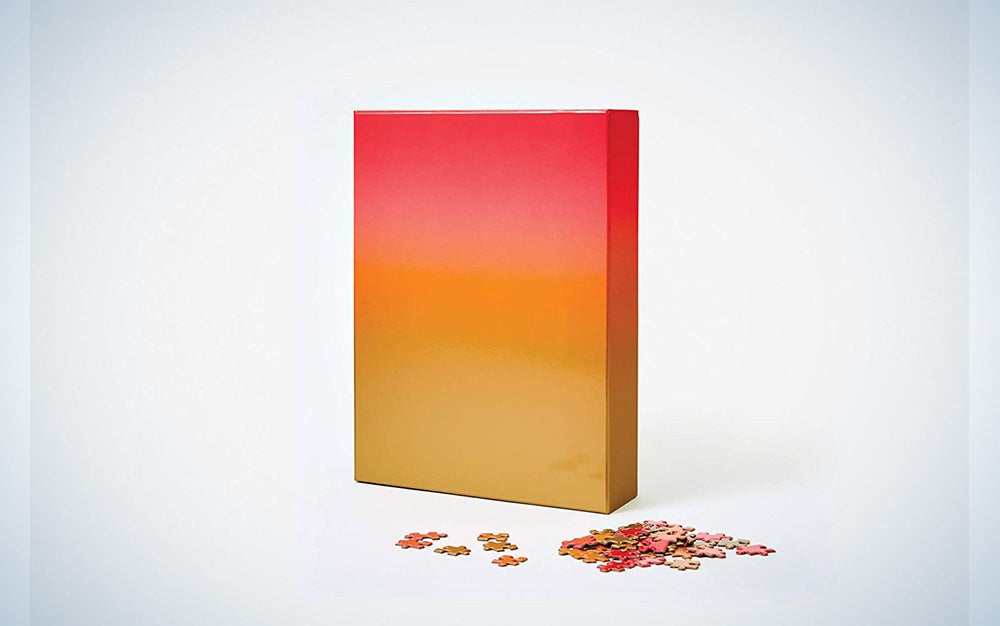 Areaware Red and Gold gradient puzzle