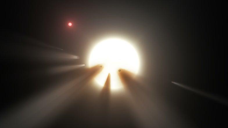Illustration of the star KIC 8462852