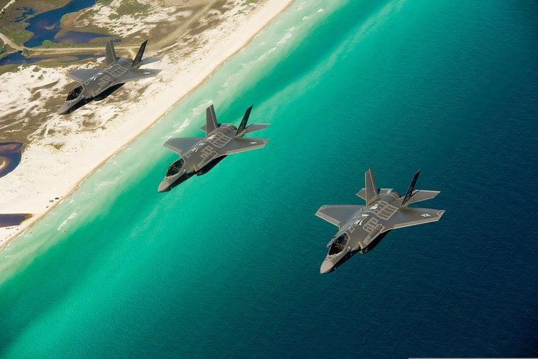 F-35As In Flight
