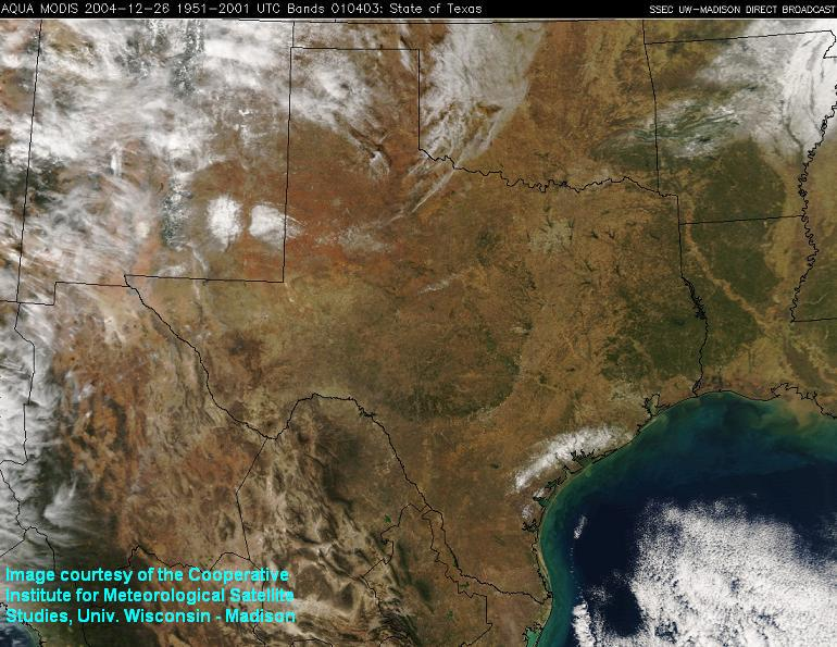 satellite of texas with snow