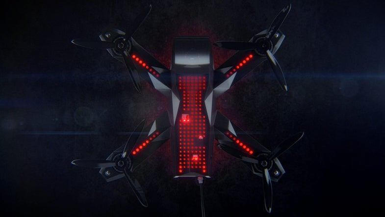 Overhead view for Racer3 drone