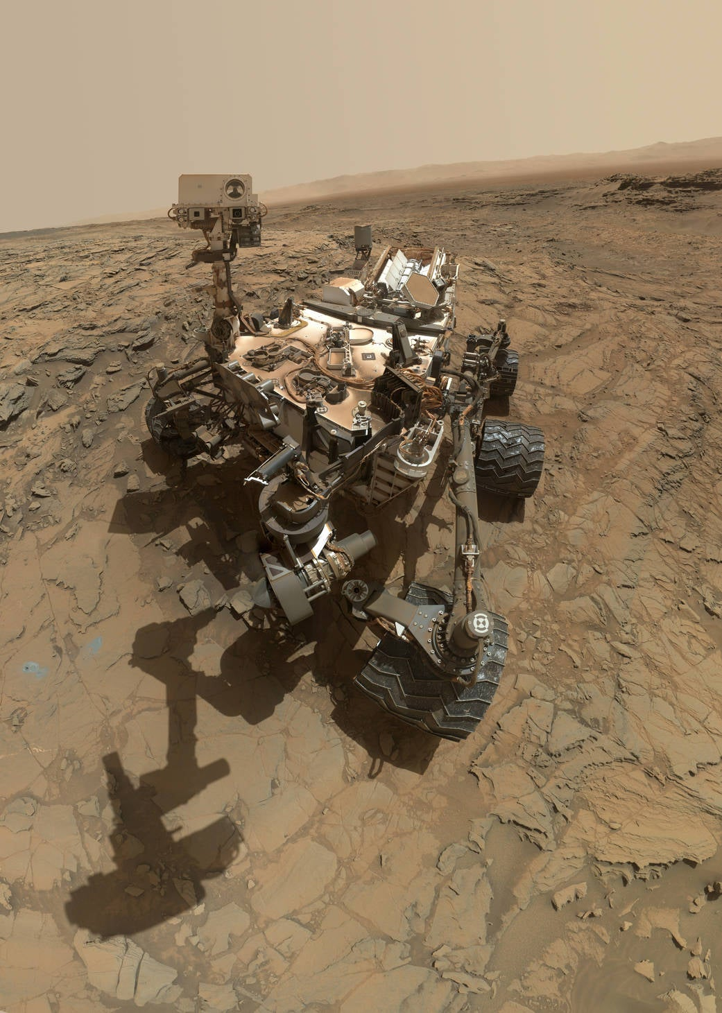 Curiosity Rover takes a self portrait