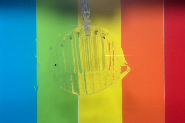 Transparent, Gel-based Robot