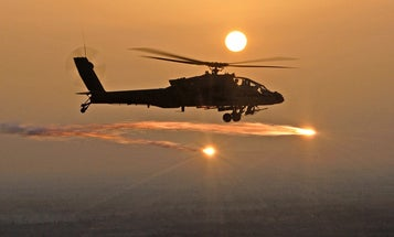 Here come the helicopters with weaponized lasers