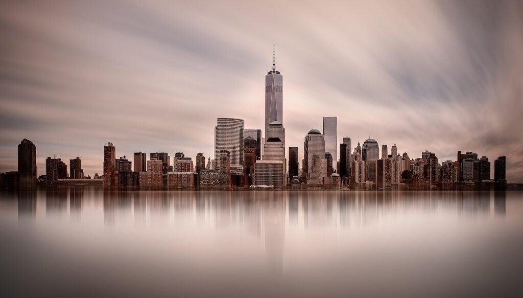 long exposure of the Manhattan skyline